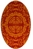 rug #988497 | oval red damask rug