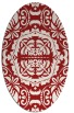rug #988501 | oval red traditional rug