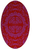 rug #988505 | oval red traditional rug