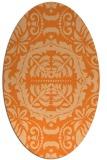 rug #988515 | oval traditional rug