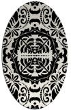 rug #988525 | oval white traditional rug