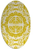 rug #988529 | oval white damask rug