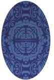 rug #988536 | oval damask rug