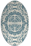 rug #988541 | oval white traditional rug