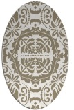 rug #988545 | oval white traditional rug