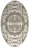 rug #988545 | oval beige traditional rug