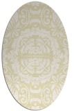 rug #988553   oval white traditional rug