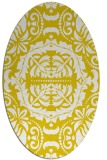 rug #988561 | oval yellow rug