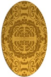 rug #988565 | oval yellow rug