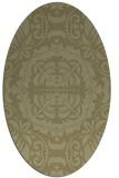 rug #988577   oval light-green rug