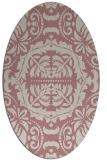 rug #988593 | oval pink traditional rug