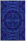 rug #988709    blue-violet damask rug