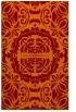 rug #988805 |  orange damask rug