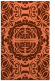 rug #988817 |  red-orange damask rug