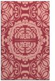 rug #988829 |  pink damask rug