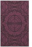 rug #988837 |  purple damask rug