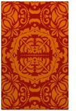 rug #988857 |  orange damask rug