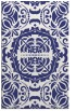 rug #988893 |  blue damask rug