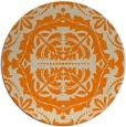 rug #988965 | round beige damask rug