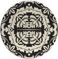 rug #988989 | round black damask rug