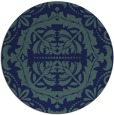 rug #989005 | round blue traditional rug