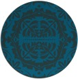 rug #989033 | round blue traditional rug