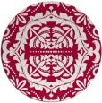 rug #989085 | round red rug