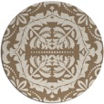rug #989117 | round mid-brown traditional rug