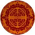 rug #989165 | round red-orange damask rug