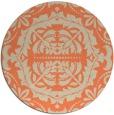 rug #989173 | round beige damask rug