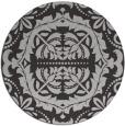 rug #989177 | round orange damask rug