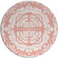 rug #989193 | round white traditional rug