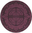 rug #989197 | round purple traditional rug