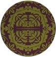 rug #989201 | round purple damask rug