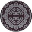 rug #989209 | round purple traditional rug