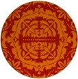 rug #989217 | round red traditional rug
