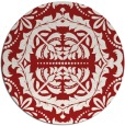 rug #989221 | round red damask rug