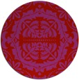 rug #989225 | round red traditional rug