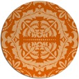 rug #989233 | round red-orange traditional rug
