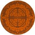 rug #989237   round red-orange traditional rug