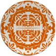 rug #989241 | round red-orange damask rug