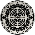 rug #989245 | round black traditional rug