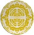 rug #989249   round white damask rug