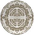 rug #989265 | round beige damask rug
