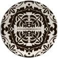 rug #989277 | round brown damask rug