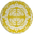 rug #989281 | round yellow traditional rug