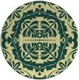 rug #989289 | round yellow damask rug