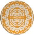 rug #989321 | round light-orange damask rug