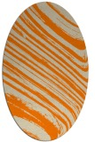 rug #991845 | oval orange natural rug