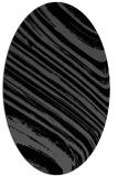 rug #991853 | oval black natural rug